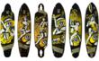 Sector9 Longboards Has Been A Part Of Pure Board Shop Since 1995; Landyachtz Rayne Bustin Comet Original Round Out The Deck Wall - New Sector9 Holiday Product Out Now
