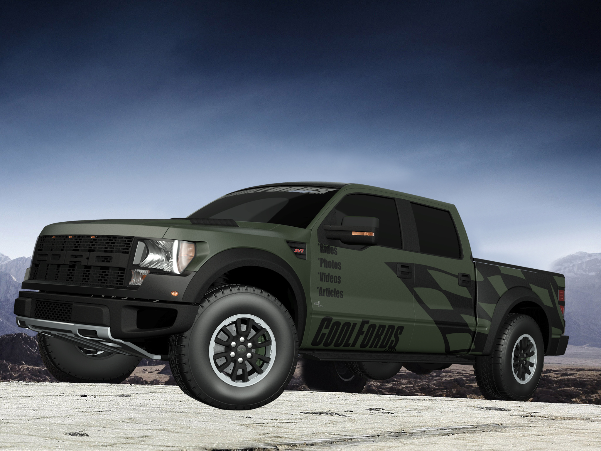 ford f150 raptor green images. Black Bedroom Furniture Sets. Home Design Ideas