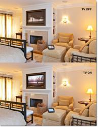 Media room system hidden in Master Bedroom by DSI Entertainment Systems