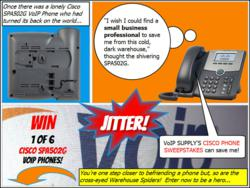 VoIP Supply Cisco SPA502G VoIP Phone Sweepstakes