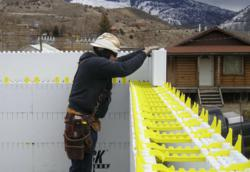 Quad-Lock Insulated Concrete Formwork