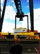 First official box lift by Freightliner Ltd'd new cranes at Southampton Maritime
