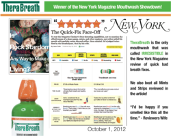 Therabreath Oral Rinse review in New York Magazine