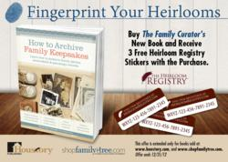 family heirloom, family keepsakes, provenances, family stories, family heirlooms, heirloom registry, houstory publishing, family curator, family tree magazine, Denise May Levenick