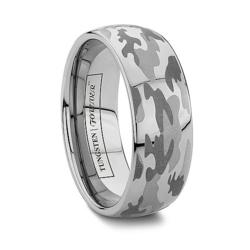 Camo Wedding Bands by TungstenWorld.com