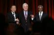 United Nations Secretary General Ban Ki-moon, United Nations Foundation founder and chairman Ted Turner and former UN Secretary General Kofi Annan (Gary He/Insider Images)