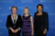 United Nations Foundation board member Gro Brundtland, UN Foundation CEO Kathy Calvin and Global Entrpreneurs Council member Angela Mwanza (Gary He/Insider Images)