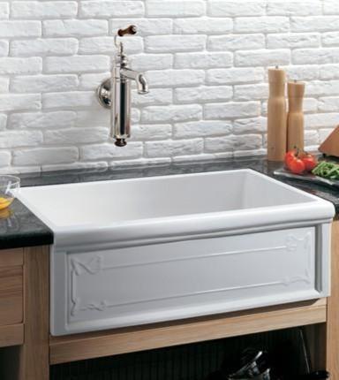 luveron art nouveau fireclay farmhouse sink from herbeau apron kitchen sink kitchen sinks alcove
