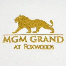Embroidered MGM Grand at Foxwoods Logo
