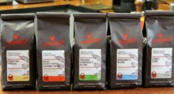 Fresh-roasted Crimson Cup Coffee in New Bags