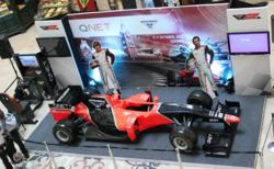 The QNET F1 Show Car stationed in Chennai City Centre