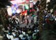 The huge crowd that turned up to view the QNET F1 Show Car in Chennai