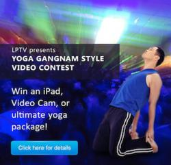gangnam style, yoga videos, yoga classes online, dahn yoga classes, video contest