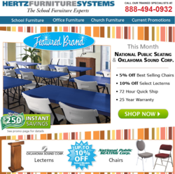 Save on National Public Seating Banquet Chairs and Oklahoma Sound Corporation Lecterns