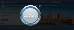 The Austin personal injury attorneys website with the call now button.