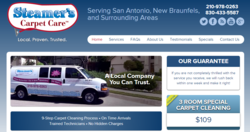 The new website for Steamer's Carpet Care, a San Antonio carpet cleaning company, has a layout that responds to the size of screen.