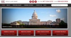 The redesigned website for the personal injury attorneys at New Braunfels law office The Kyle Law Firm.