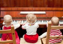 Children playing piano