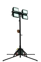 Aluminum Light Tower with Four 150 Watt LED Light Heads
