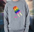 """Rainbow Pop"" Men's Crewneck Sweatshirt by bang! bang! flip t-shirt"