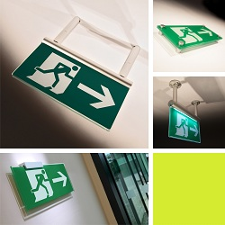 Fire exit signs from new Signbox online shop