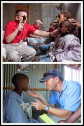 Dr. Glenn Ellisor and Jim Schneider assist the Sight Ministries team during the 2011 Kenya mission trip.