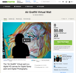 Air Graffiti Dallas Launches New Campaign with KickStarter.com