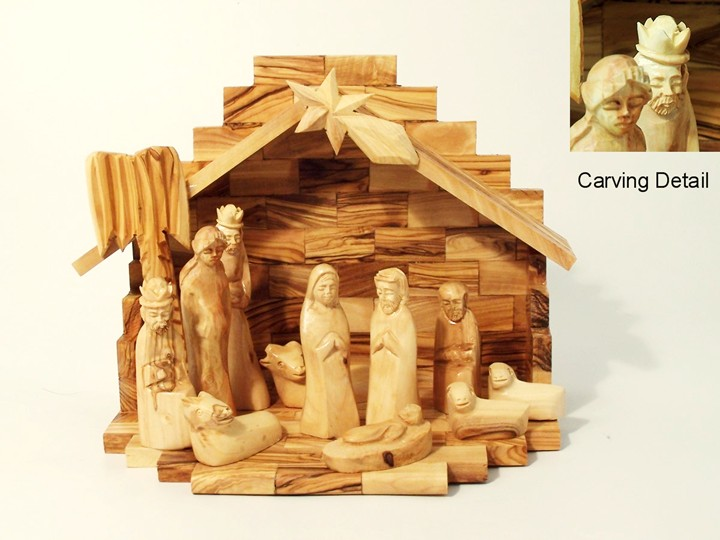 Wooden Hand Carved Nativity Sets ~ Fantastic new website launched by so raise your glasses