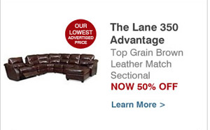 Look For The Lane Advantage Promo On The Home Page Of SofasAndSectionals.com .