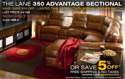 SofasAndSectionals.com Is Offering In Stock Lane Advantage Sectionals For  50% Off The Normal Price.