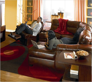 Attractive The Lane Advantage Sectional Offers Different Seating Arrangements For  Relaxation, Including A Swivel Recliner And Chaise Lounge