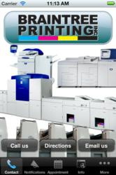 Braintree Printing's new mobile App helps customers fulfill printing needs easily.