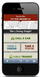 TxDOT mobile website