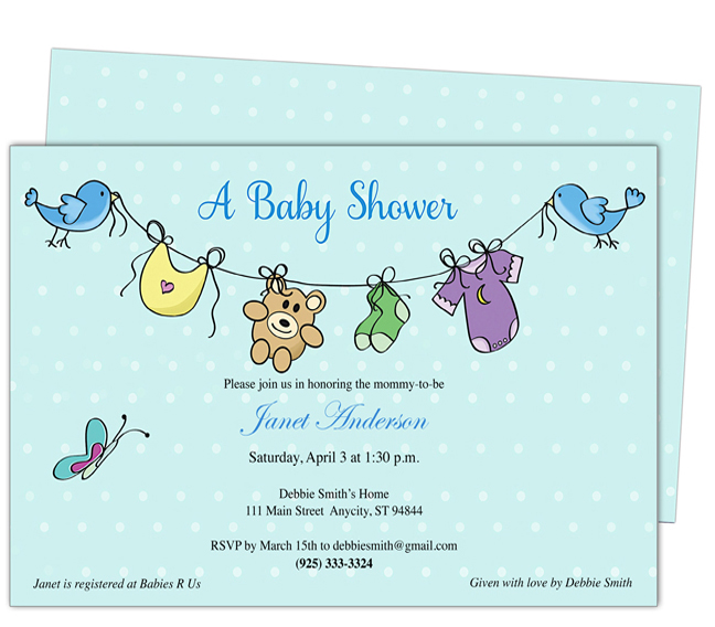 rsvp website for baby shower