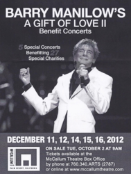 Barry Manilow Flyer