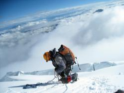 On the Way to the Summit of Cotopaxi