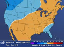 in the Northwest with Relatively Mild Winter Ahead in the Eastern US