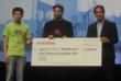 StartMeApp's Alejandro Campos Carles awards AppAttack Top Prize to Waigo Translate at GMIC-SV