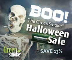 Save 13% During the Green Smoke Halloween Sale!