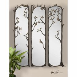 Uttermost Perching Birds, S/3 12788. Mirrors
