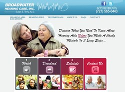 Broadwater Hearing Care in St. Petersburg Website