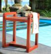 teak shower stool with mobility design