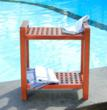 teak grate shower bench with mobility design