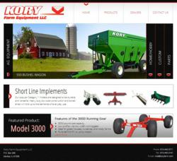 Kory Farm Equipment web site