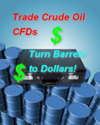 A suitcase over several barrels of Crude Oil and an argument to turn barrels into Cash with CaesarTrade