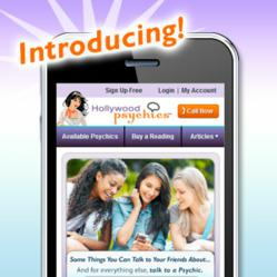 Hollywood Psychics Mobile site launch