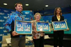 Six-time Olympic Champion Lidiya Skoblikova Presented 2014 Olympic Stamps Featuring Six Sports
