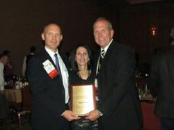 Robert Hill, President of Solar Atmospheres of Western PA Receiving Award