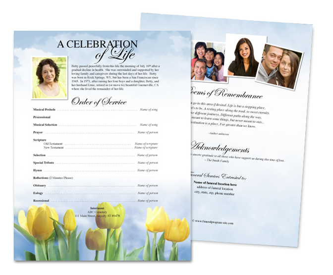 Funeral Flyer Sheet Templates ...  Funeral Flyer Template