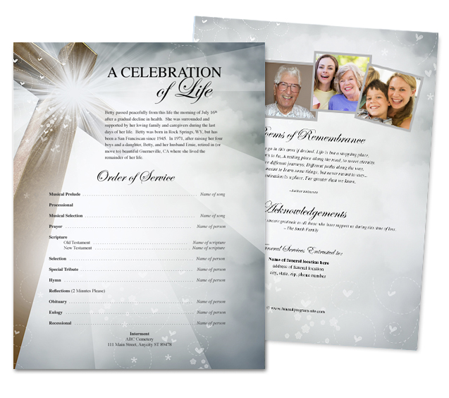 Funeral service flyer template template superstore adds new line of design with funeral flyer sheets maxwellsz